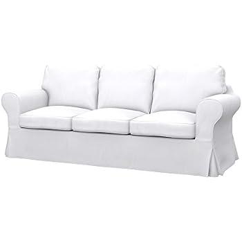 Ikea Divani 3 Posti.Soferia Fodera Extra Ikea Ektorp Pixbo Divano Letto A 3 Posti Tessuto Eco Leather White