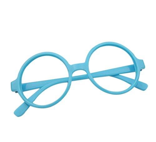 Westeng Kinderbrille Einfach Retro Großer Runder Jungen und Mädchen Kinderbrillenrahmen Spiegel...