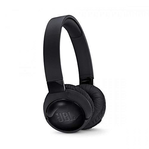 JBL Tune 600BTNC Casque à Réduction de Bruit Active - Écouteurs Audio avec Microphone - Autonomie + de 12 heures - Streaming Musical Sans Fil, Bluetooth, Noir