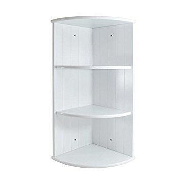 Preisvergleich Produktbild White Shaker 3 Shelf Corner Wall Unit