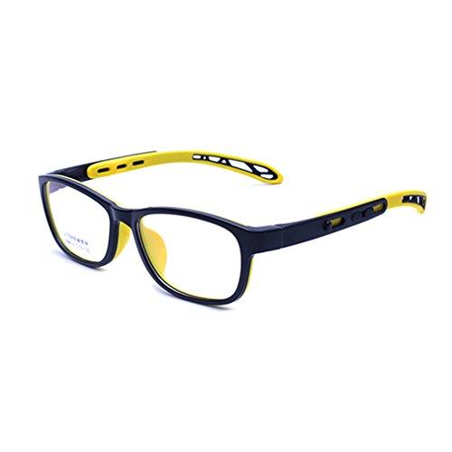 Juleya Kinder Gläser Rahmen - TR + Silikon - Professionel Kinder Brillen Clear Lens Retro Reading Eyewear für Mädchen Jungen