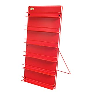 Avonstar Classics Range Nail Polish Rack (free standing or wall mounted) British Made (Red)