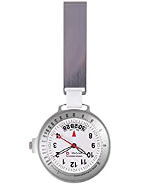 Nurses Fob Watch Swiss Medical Care Line + Engraving (Silver)