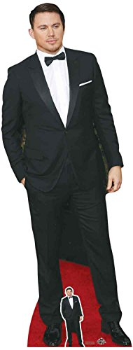 Star Einbauöffnungen LTD Channing Tatum blacksuit und Fliege, Karton, Mehrfarbig, 3x 70x 185cm