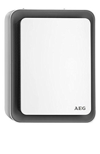 AEG Heizlüfter HS 207 G, einzigartiges Design, Sweet-Air-Technologie, Silent-Air-Flow, Umkipp- und Frost-Schutz, grau, 1,8 kW, 234831