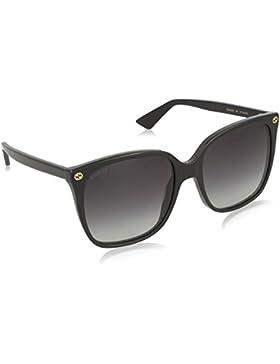Gucci 0022S_001 (57 mm), Gafas de Sol para Mujer, Black, 57
