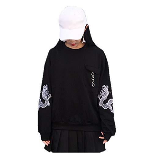Packitcute Korean Harajuku Fashion Sweatshirt Embroidery Thin Tops