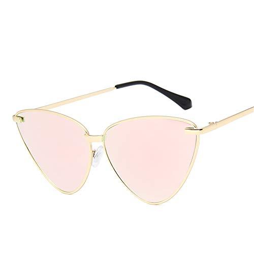 hw Retro Mode Mann und Frau farbige Katzenauge Sonnenbrille Pink