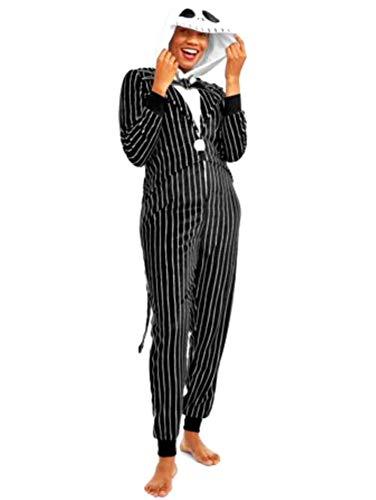 Disney Jack Skellington Damen Unionsuits für Erwachsene - Schwarz - - Jack Skellington Kostüm Kinder