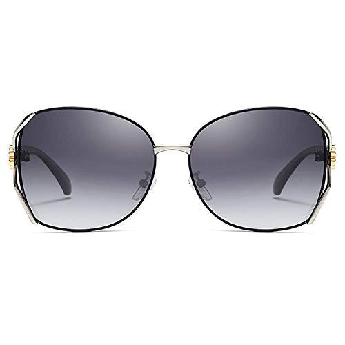 FURUDONGHAI Klassische polarisierte Legierung Material UV400 Sonnenbrille Trend blau/schwarz weibliche Modelle Wilde Mode Sonnenbrillen besonders geeignet für sommerreisen oder Outdoor s