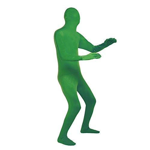 Tiaobug Ganzkörperanzug Ganzkörper Anzug Suit Herren Catsuit Komplett Zentai Zweite Haut Fasching Kostüm Grün L