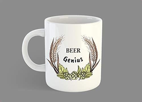 Beer Genius Mug, Beer Maker Gift Mug, Beer Lover Gift Mug, Beer Brewer Gift Mug, Hoppy Mug, Funny Beer Mug, Gift For Husband, Beer Snob - 11 OZ Coffee Mugs -