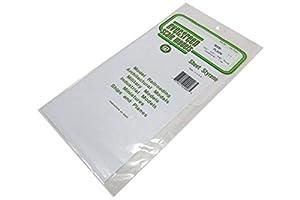 Evergreen 9008 - Juego de Placas de poliestireno (3 Unidades), Color Blanco
