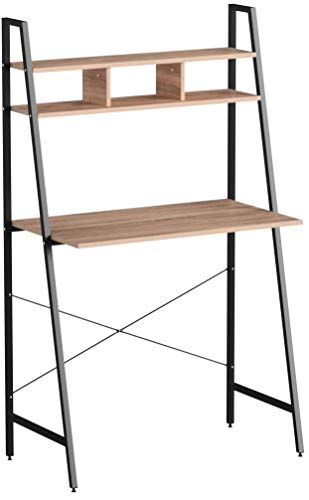 WOLTU TSB05hei Bureau d'ordinateur Table de Bureau à Domicile Station de Travail en Bois et Acier,Environ 84x46x140 cm,12kg