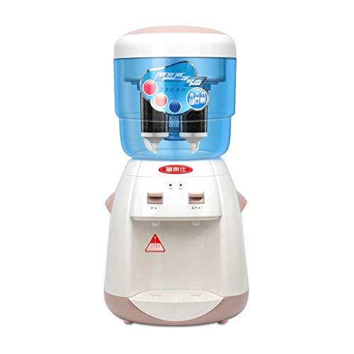 LIN HE 2,3 Gallonen Top Loading Aufsatz-Wasserspender mit Filter, Kleiner Heißgetränkespender mit Aufsatz-Wasserfilter - warmes Wasser und heißes Wasser (Color : White)
