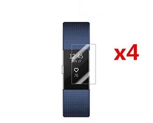 Preisvergleich Produktbild Interesting® 4 x Clear Displayschutzfolie Anti-Kratzschutzfolie für Fitbit Charge 2