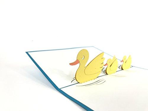 Ente Familie 3D Auto Love Haus Creative Geschenke für Valentine 's Day Postkarte Grußkarten Geschenk Karte (Day-karte-autos Valentines)