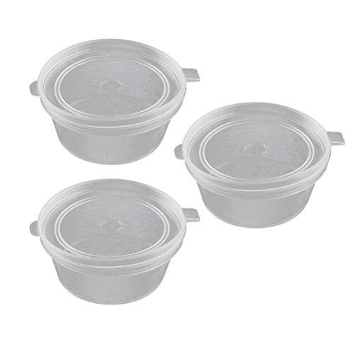 3 Cup Container (UPKOCH 50pcs 3OZ Einweg Jello Shot Cups Container mit Deckel Vorratsbehälter für Portion Control Saucen Spices Liquid)