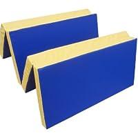 Niro Sportgeräte - Colchoneta deportiva azul azul, amarillo Talla:200 x 100 x 8 cm