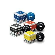 Dunlop Mixpackung Squashbälle blau rot gelb & doppelgelb ! Squashball ! Perfektes Starter Kit