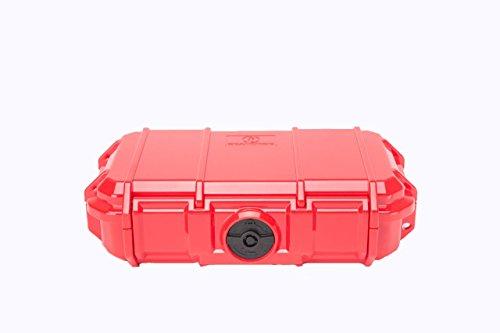 Seepferdchen-Schutzkoffer, rot (Hard Pelican Mini Case)
