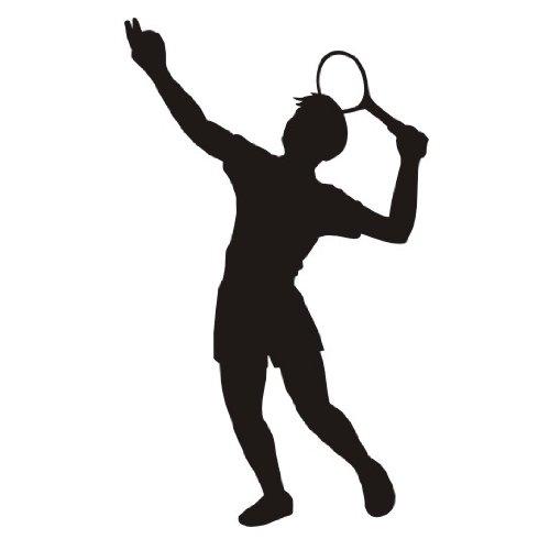 das-label Tennis Autoaufkleber Sportaufkleber weiß