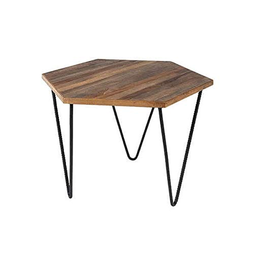 MATHI DESIGN Table Basse en Teck Polygone