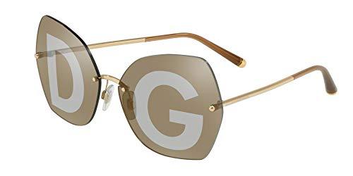 Dolce & Gabba Damen Sonnenbrille 43135, Gold, 45