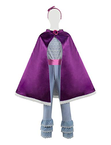 Zhangjianwangluokeji Toy Bo-Peep Rose Roter Mantel Cosplay Kostüm für Halloween (Kleine Mädchen 4T, Farbe 1)