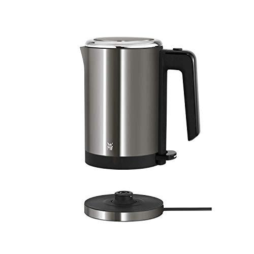 WMF Küchenminis Wasserkocher (1800 W, klein 0,8l, Reisewasserkocher, Teekocher kabellos, Kochstoppautomatik) cromargan matt/ graphit