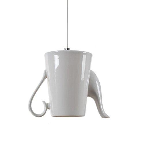 RAING 6 Absatz Keramik Pendelleuchten Moderne Weiße Keramik Lampenschirm Teekanne Kronleuchter...