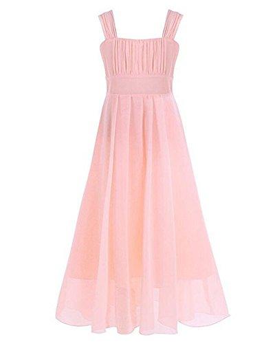 Mädchen Kleider Festlich Hochzeit Party Prinzessin Kleid Festliches Kleider Fleisch Rose für 12-13 Jahre alt (Jahre Mädchen Für Altes Party-kleid 12)