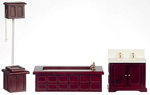Dolls House 1:24 Miniature à Rayures Moderne Chêne lounge salon ensemble de meubles