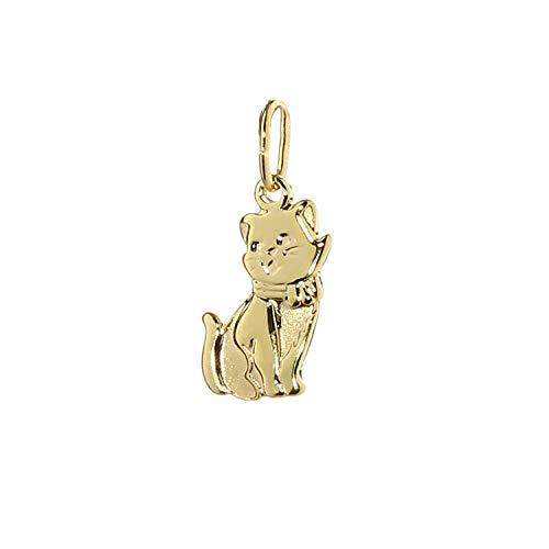 nklaus Kleine gato Cadena Colgante De Oro 333Oro amarillo gato Mujer Niña Niños 7800