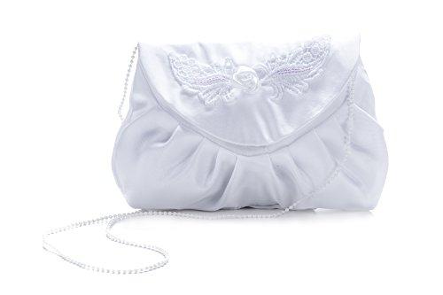 Frühlings-SALE! Brauttasche Abendtasche festliche Tasche Silber/Weiß