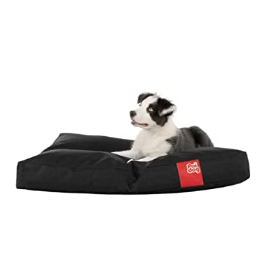 "Poi Dog® MEDIUM Dog Bean Bag - BLACK Poly Canvas Bean Bags for Dogs - Medium / Small Dogs (34"") - Dog Beds for Medium Dogs"