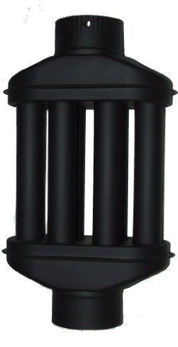 Preisvergleich Produktbild acerto Abgaswärmetauscher 120x550mm - schwarz  Energie sparen  Leichte Reinigung  Einfacher Einbau | Warmlufttauscher, Rauchgaskühler zum Nachrüsten | Kaminrohr, Abgasrohr, Ofenrohr für Öfen, Kamine, Holzkessel | Rauchrohr aus Stahlblech