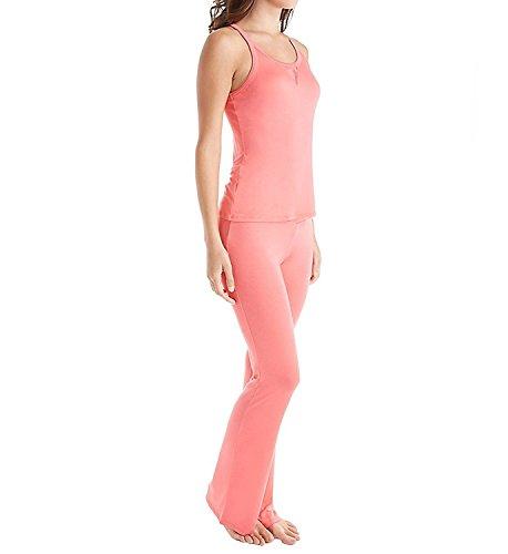 Betsey Johnson Intimates Buds & Roses Dot Mesh PJ Set (7361301) L/Fiesta Coral (Lace Polka Dot Trim)
