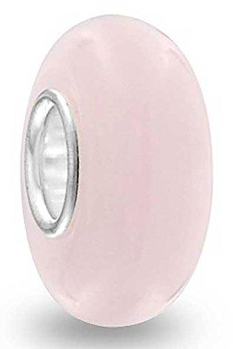 Murano Glas Runde Opak Rosa Simulierten Opal Distanzstück Charm Bead Charms Für Damen Für Jugendlich 925 Sterling Silber -