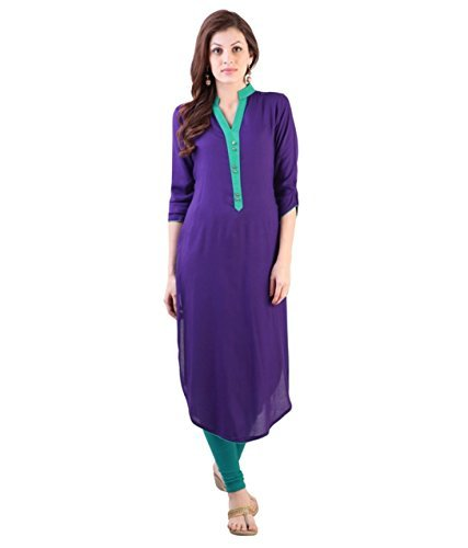 designer-purple-cotton-3-4th-sleeve-round-neck-ankle-long-fabulous-kurtis-and-kurtas-gt-kvr-pr-l