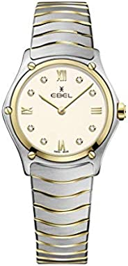 EBEL Ladies 1216418A Sport Classic 18K Gold & Steel Swiss Quartz W