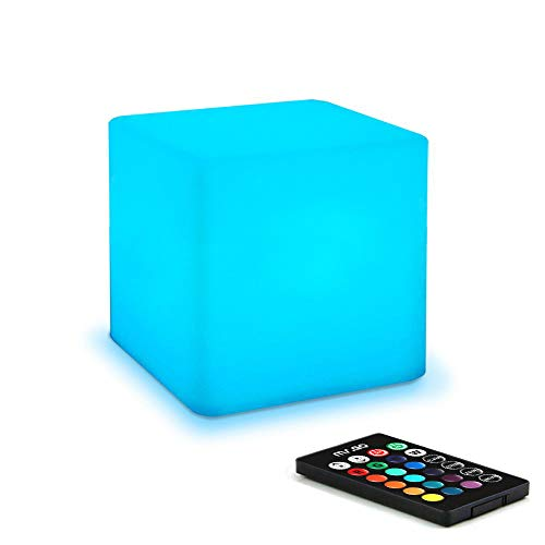 Cubo luminoso, luce a LED, ricaricabile, cambia...
