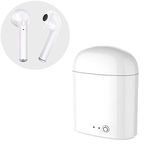 Foto de Mini Bluetooth 4.2 auriculares in ear Auriculares inalámbricos,con Estuche de Carga, Cancelación de Ruido, Micrófono Incorporado, Auriculares Estéreo Inalámbricos.Funciona con la mayoría de dispositivos Bluetooth