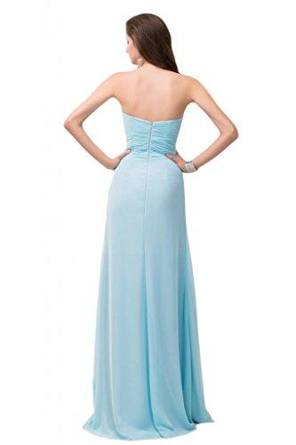 Sunvary senza spalline in Chiffon Bridesmaid sera Gowns pavimento, con parte posteriore aperta Arancione