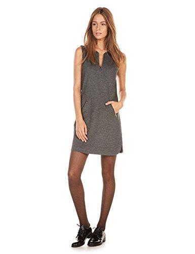 monoprix-femme-robe-sans-manches-a-col-v-en-milano-femme-taille-40-couleur-gris-anthracite-chine