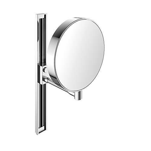 Emco 109500115 Rasier- und Kosmetikspiegel mit Gleitschiene chrom