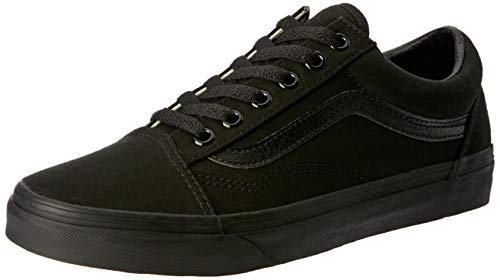 Vans Old Skool  , Unisex-Adults' Low-Top Trainers, Black/Black Canvas,10.5 UK, 45 EU