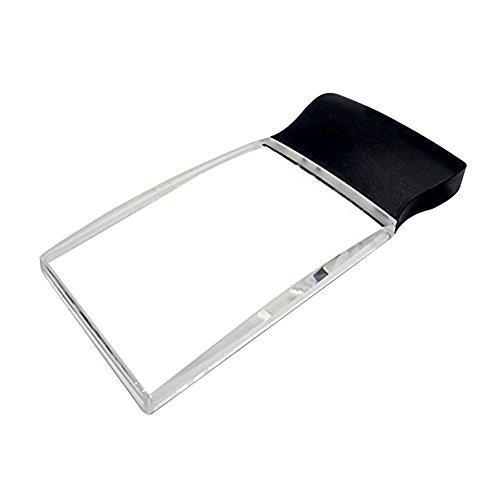 LED 2X großes rechteckiges Leselupe Handlupe mit Licht - 2,3 x 4 randlose Verzerrung-Free-Objektiv für Low Vision, Senioren, Bücher, Seiten, Zeitschriften, Zeitungen und Karten (Groß rechteckig)