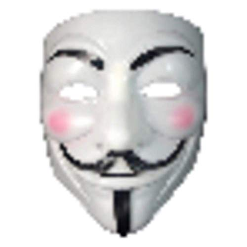 Hearthrousy Maske Vendetta Anonymus Maske Halloween Maske Erwachsene Cosplay Maske Erwachsene Horror Gelb Weiß V-Form Maskerade Phantasie Halloween Cosplay Halloween Kostüm - Guter Kerl Halloween Kostüm