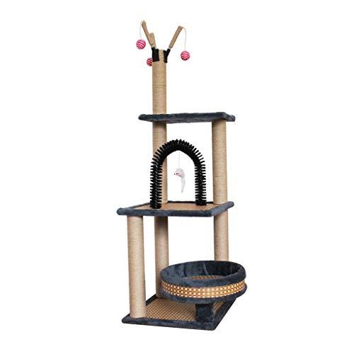 Pet Cuisine Albero Tiragraffi, Cat Tower/Cat House con tiragraffi ricoperti di sisal/Altezza 135 cm